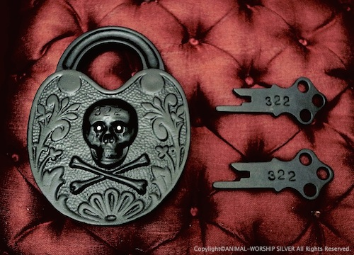 Antique Skull&Bones Padlock Reproduction 322 Custom