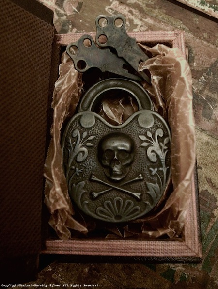 真鍮製の鍵が2本付属します。