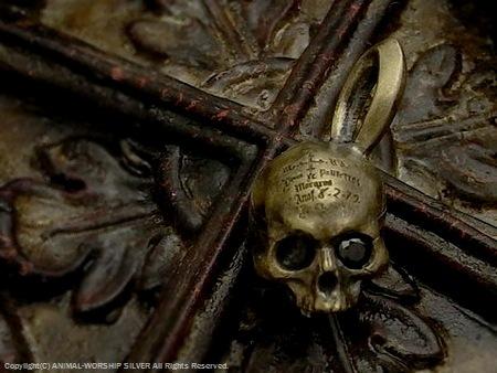 Memento Mori Brass Pendant