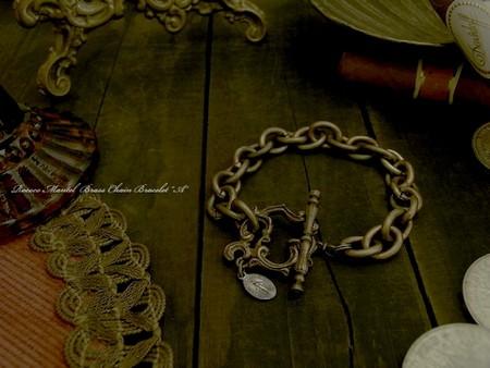 Rococo Mantel Brass Chain Bracelet『A』 \10,800